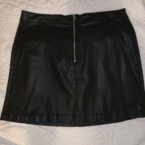 Leather Calvin Klein Skirt